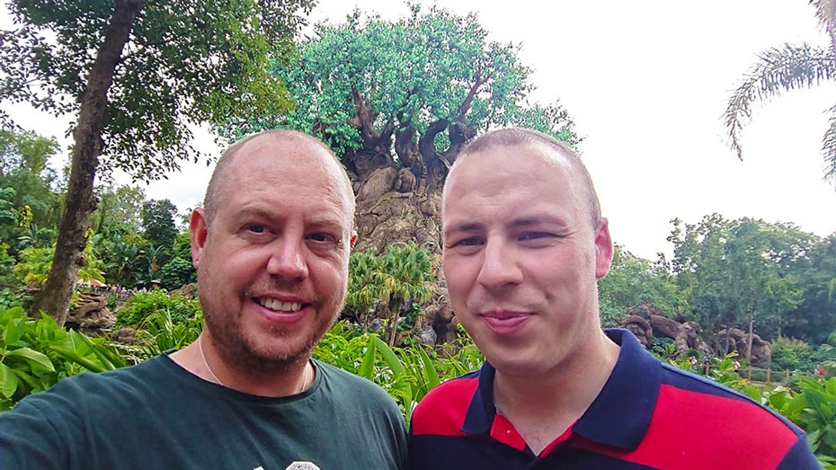 At the Tree of Life in Disney's Animal Kingdom
