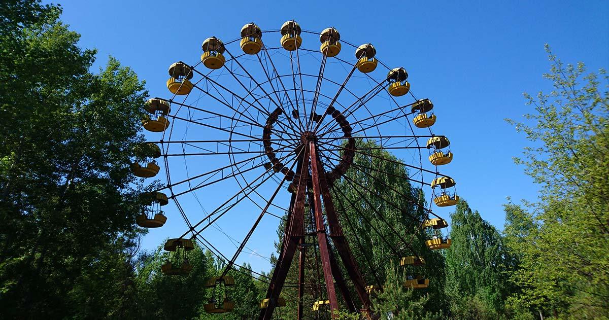 The infamous ferris wheel in Pripyat near Chernobyl